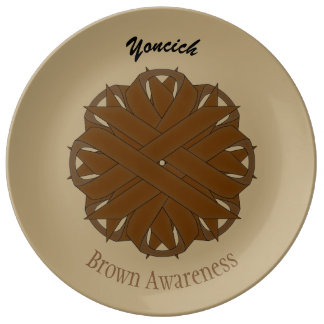 Brown Flower Ribbon by Kenneth Yoncich Plate