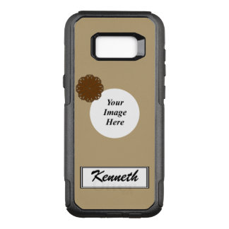 Brown Flower Ribbon Template by Kenneth Yoncich OtterBox Commuter Samsung Galaxy S8+ Case