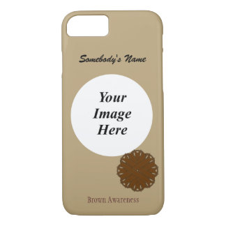 Brown Flower Ribbon Tmpl by Kenneth Yoncich iPhone 7 Case