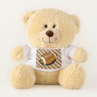 Brown Football Teddy Bear