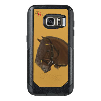 Brown Friesian Draft Horse Monogram OtterBox Samsung Galaxy S7 Case