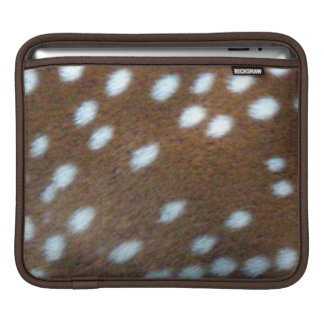 Brown fur with white Bambi dots Sleeve For iPads