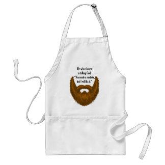 brown fuzzy beard standard apron