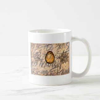 brown geography pearl coffee mug