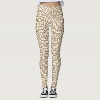 Brown geometric leggings