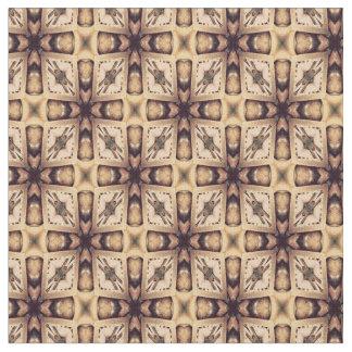 Brown Geometric Shapes Pattern Fabric