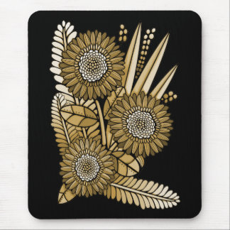 Brown Gerbera Daisy Flower Bouquet Mouse Pad