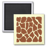 Brown Giraffe Print Pattern. Refrigerator Magnet