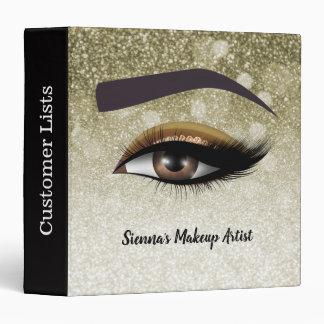 Brown glam lashes eyes | makeup artist 3 ring binder