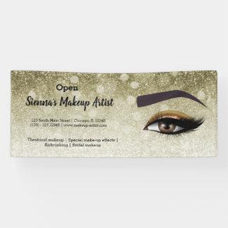 Brown glam lashes eyes | makeup artist banner