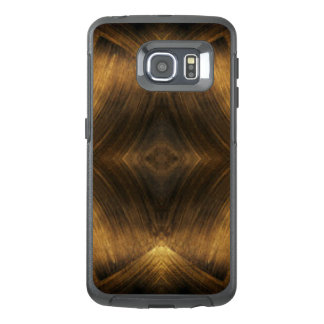 Brown Gold Abstract Pattern Print Design OtterBox Samsung Galaxy S6 Edge Case