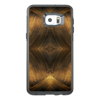 Brown Gold Abstract Pattern Print Design OtterBox Samsung Galaxy S6 Edge Plus Case