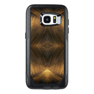 Brown Gold Abstract Pattern Print Design OtterBox Samsung Galaxy S7 Edge Case