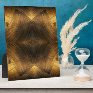 Brown Gold Abstract Pattern Print Design Plaque
