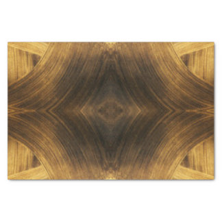 Brown Gold Abstract Pattern Print Design Tissue Paper