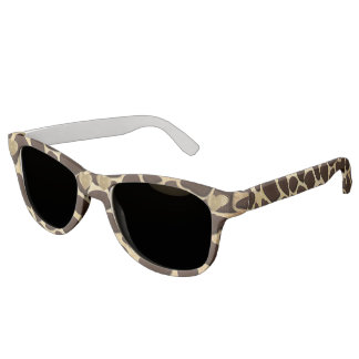 Brown & Gold Animal Print Golden Heart Sunglasses