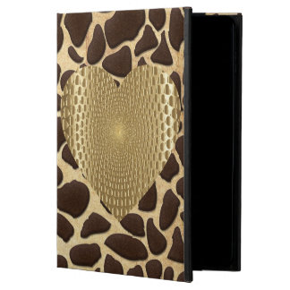Brown & Gold Animal Print Golden Prismatic Heart Powis iPad Air 2 Case