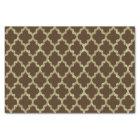 Brown & Gold Ikat Quatrefoil Geometric Pattern Tissue Paper