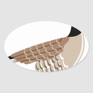 Brown Goose vector Stylized Oval Sticker
