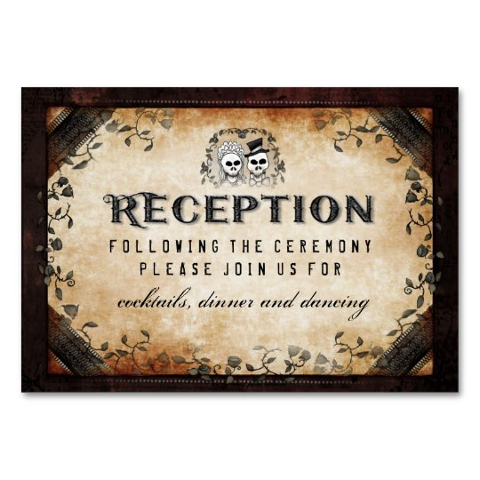 Brown Gothic 3x5 Reception Card #1 - Cheaper