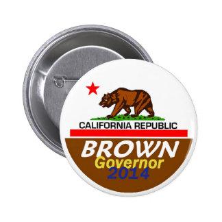 BROWN Governor 2014 Button