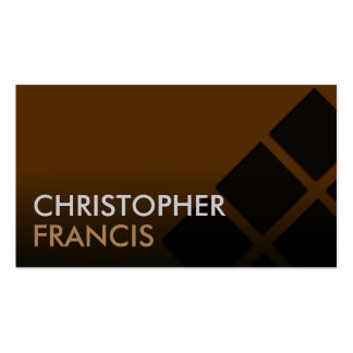 Brown gradient card with square pattern business card