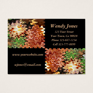 brown green and black business card
