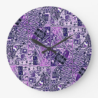 BROWN, GREEN BURGUNDY PHOENIX ABSTRACT LARGE CLOCK