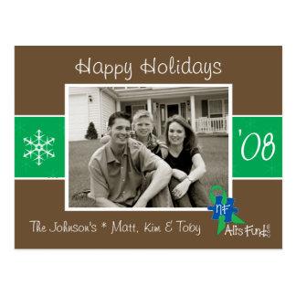 Brown & Green Holiday Photo Card