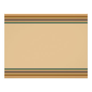 Brown green stripes full color flyer