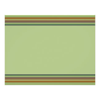 Brown green stripes custom flyer