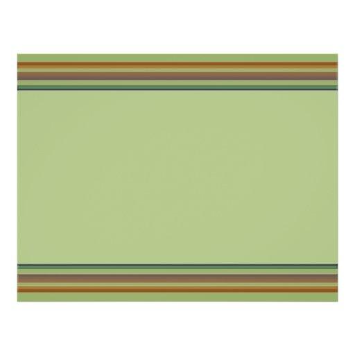 Brown green stripes custom flyer