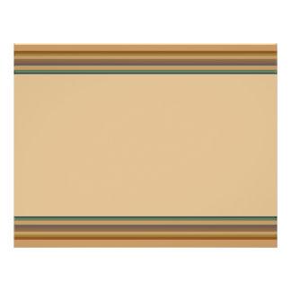 Brown green stripes full color flyer