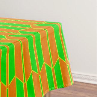 Brown Green Yellow Geometric Pattern Tablecloth