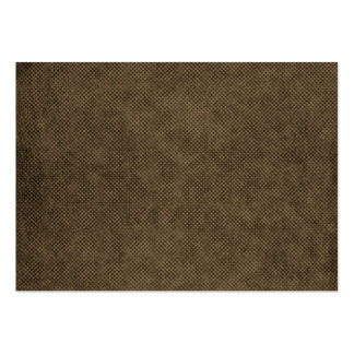 brown grungy halftones large business card