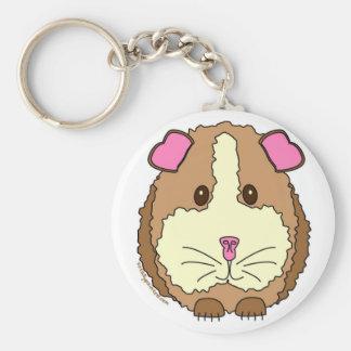 Brown Guinea Pig Keychain