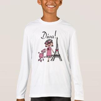 Brown Hair Diva T-Shirt