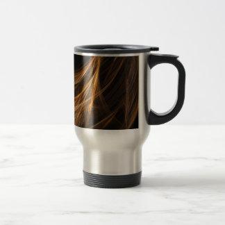 Brown Hair Fractal Travel Mug