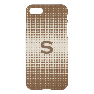 Brown Half Tone Pattern iPhone 7 Case