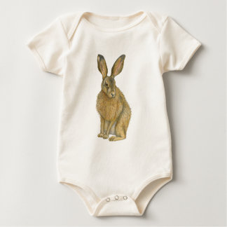 Brown Hare Baby Bodysuit