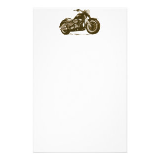 Brown Harley Motorcycle Stationery
