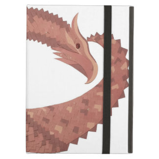 Brown heart dragon on white cover for iPad air