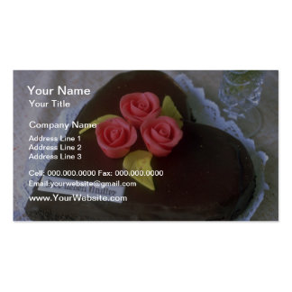 Brown Heart-shaped cake for Mother's Day flowers Business Cards
