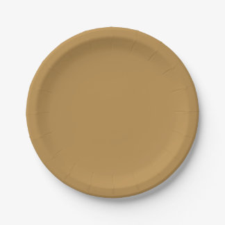 Brown Honey Solid Colour Paper Plate