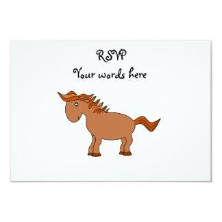 "Brown horse 3.5"" x 5"" invitation card"