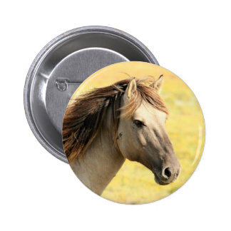 Brown horse badge 2 inch round button