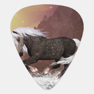 Brown horse guitar pick