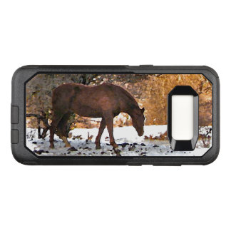Brown Horse in Winter OtterBox Galaxy S8 Case