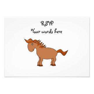 Brown horse custom announcement