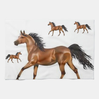 brown horse kitchen hand towel